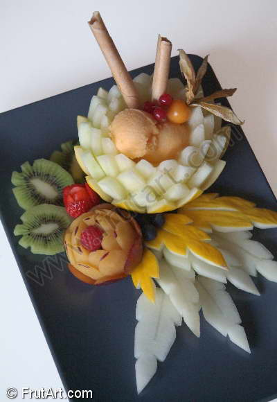 Icecreams. FrutArt. Photo Gallery. Fruit Carving. FruitArt. Fruit Art.