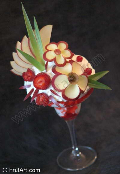 Icecream Cups. FrutArt. Photo Gallery. Fruit Carving. FruitArt. Fruit Art.